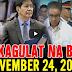 Nakakagulat Na Balita Ngayon November 24, 2017 - Pres. Duterte | N0yn0y | Sereno