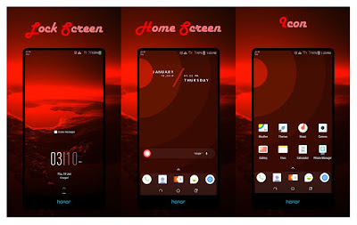 Download Red Impulse Theme for EMUI 5