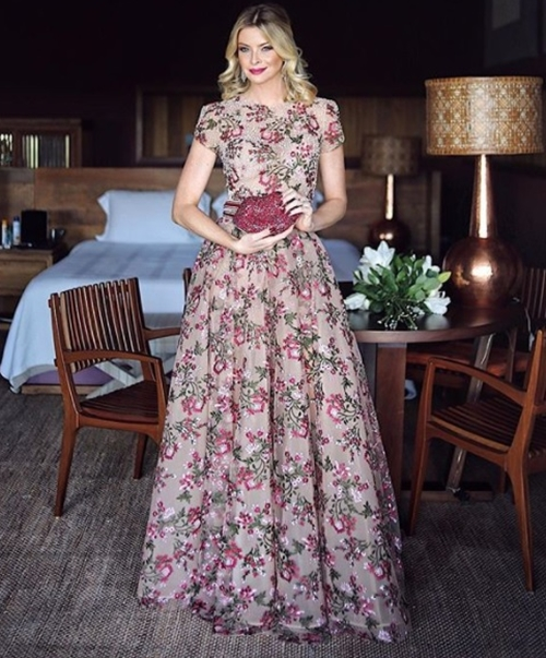 vestido de festa floral