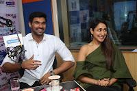 Pragya Jaiswal in a single Sleeves Off Shoulder Green Top Black Leggings promoting JJN Movie at Radio City 10.08.2017 024.JPG