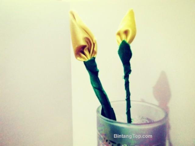 Kerajinan Tangan BUNGA Mini Tulip dari Kain PERCA