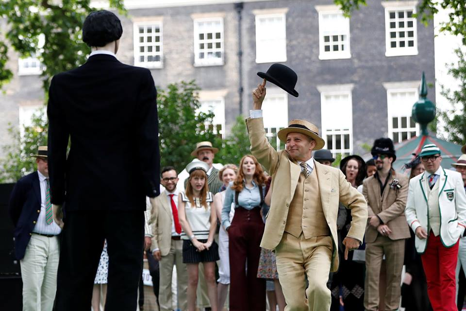 English ladies and gentlemen go wild at the Chap Olympiad