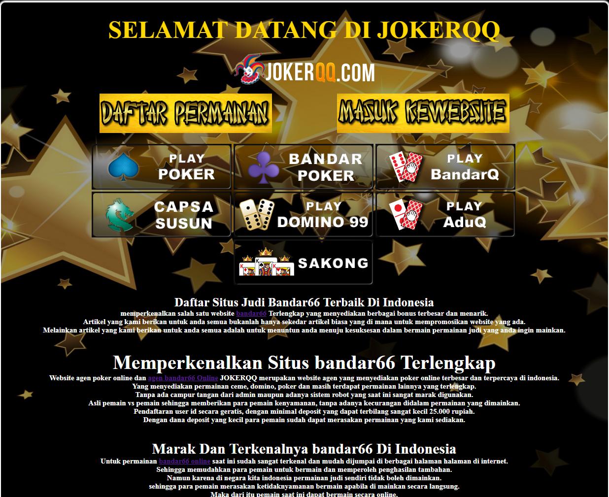 judi online terpercaya di indonesia: QQzamanow - Agen ...
