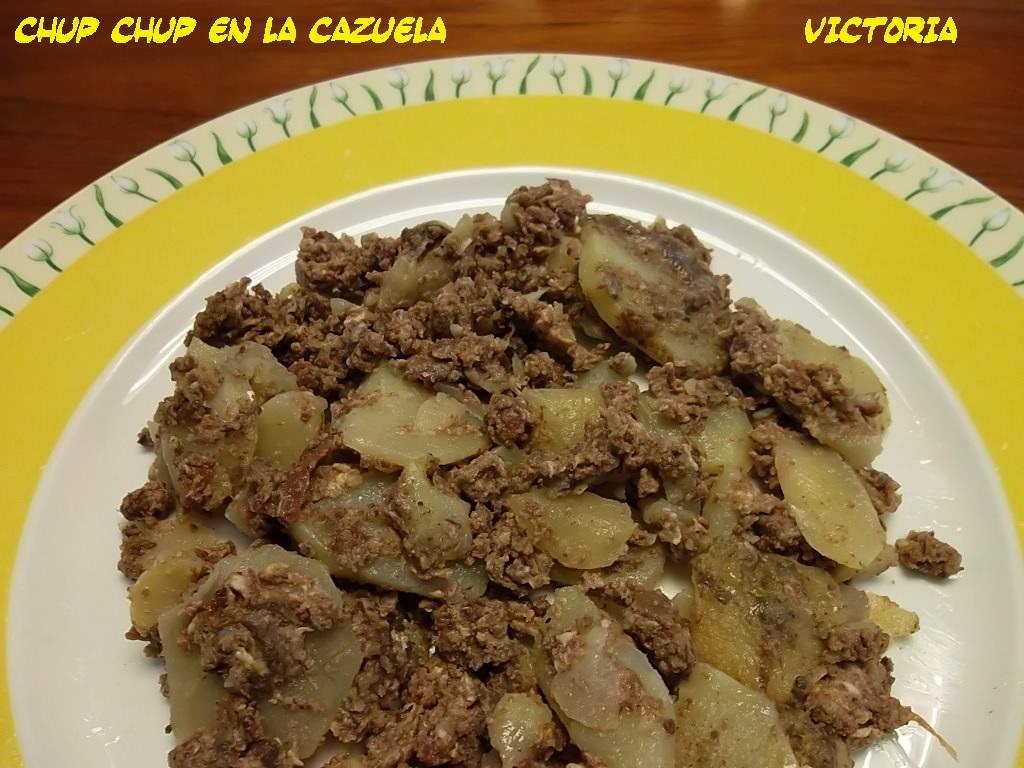 Patata Porner chup chup en la cazuela: patatas enmascaradas