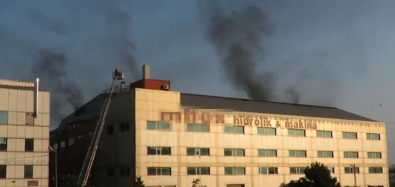 Fabrikada çıkan büyük yangın panik yarattı