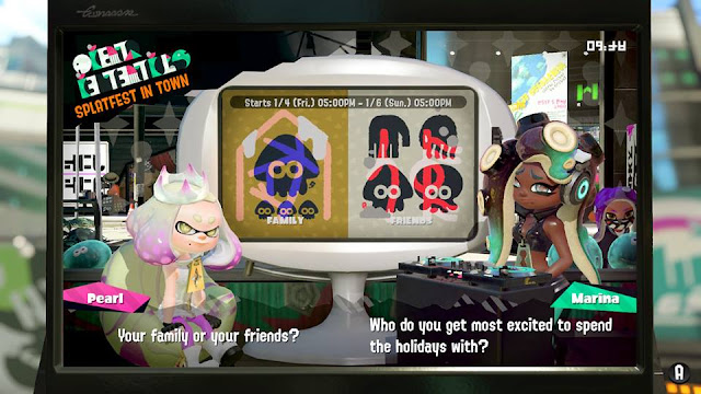 Splatoon 2 Splatfest most excited to spend holidays with family vs. friends news