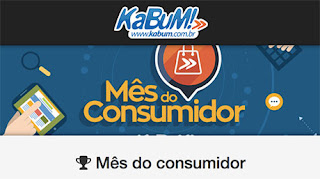 Participar promoção Kabum 2016 mês do consumidor