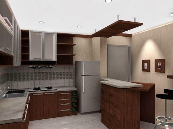 Desain interior dapur mungil untuk rumah minimalis