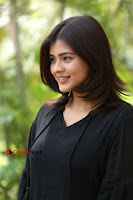 Actress Hebah Patel Stills in Black Mini Dress at Angel Movie Teaser Launch  0148.JPG