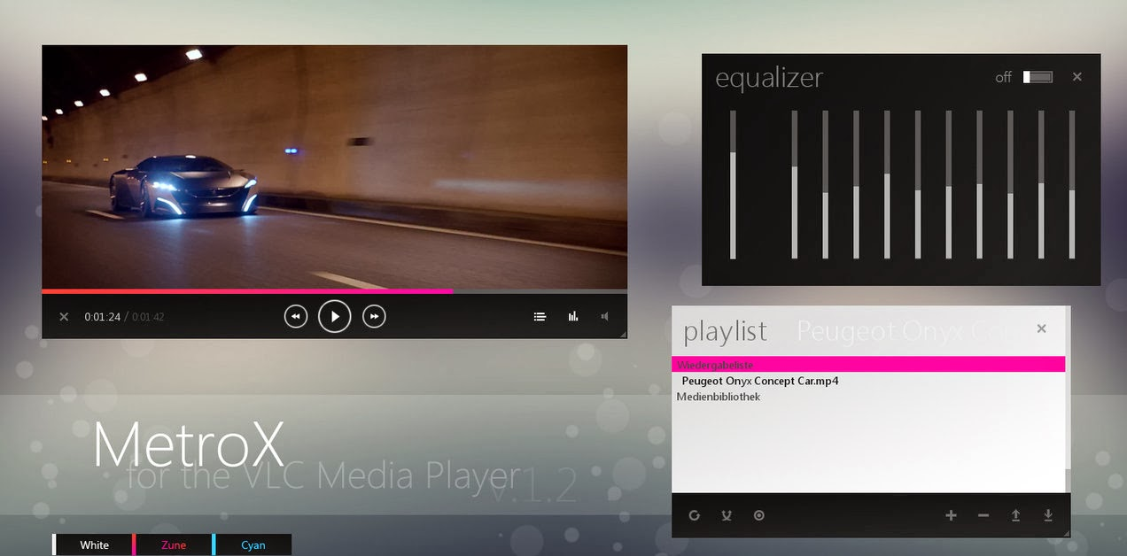 Awesome VLC Media Player Skin (Theme) Download - Computer