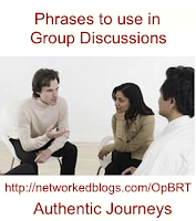 Phrases to use in a Group Discussion