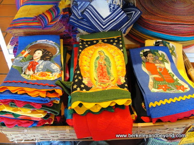 colorful kitchen towels at Bazaar del Mundo in San Diego, California