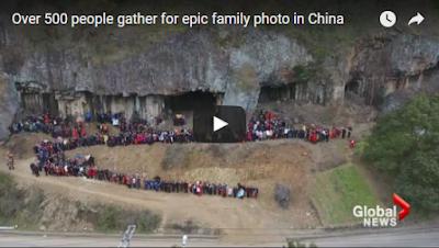 فيديو مدهش-أضخم صورة سيلفي يلتقطها 500 شخص من أسرة واحدة... شاهدوا كيف اجتمعوا!
