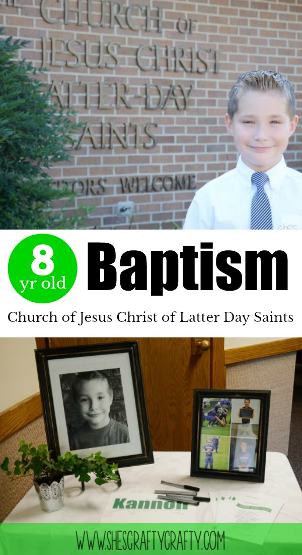 baptism, 8 years old, Mormon, church of Jesus Christ of latter day saints