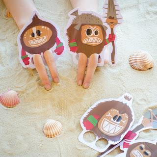 Moana finger puppets