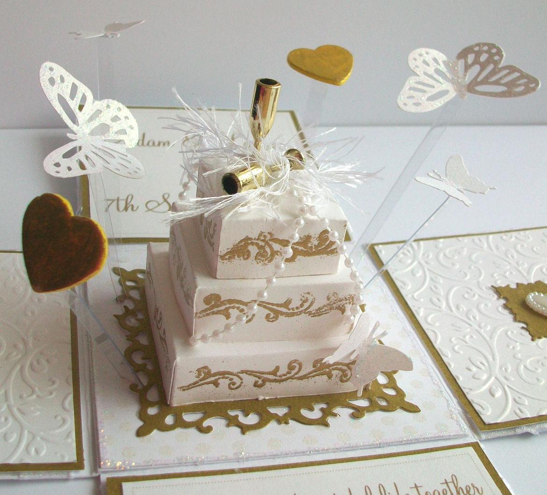 Двигающаяся, открытка на свадьбу торт