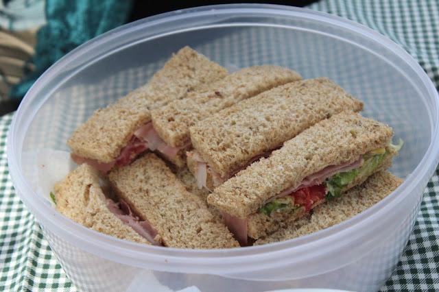 bocadillos integrales de picnic
