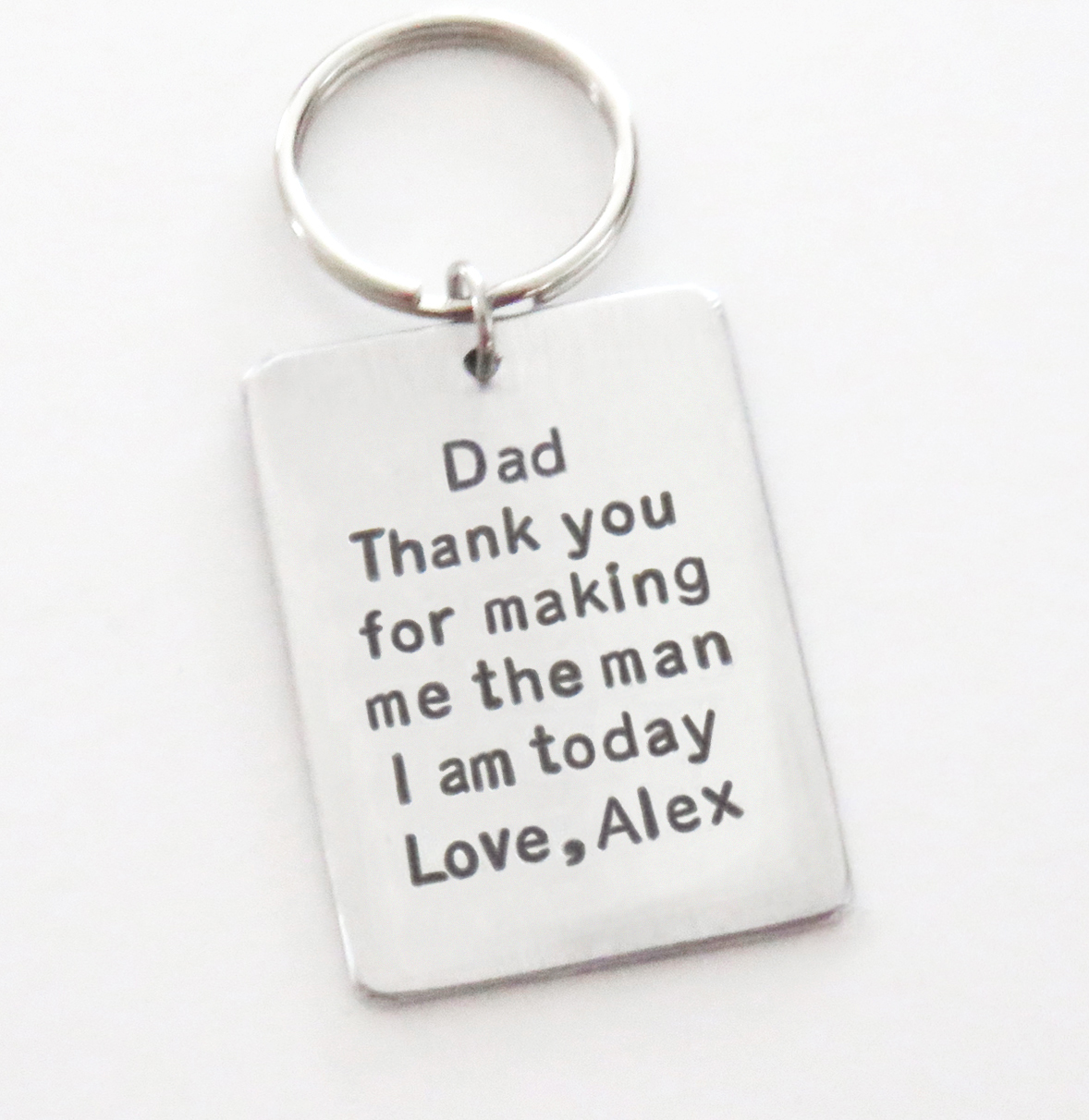 Thank You Wedding Gift For Dad : Stamped personalized wedding gifts, jewelry, key chains, funny cards ...