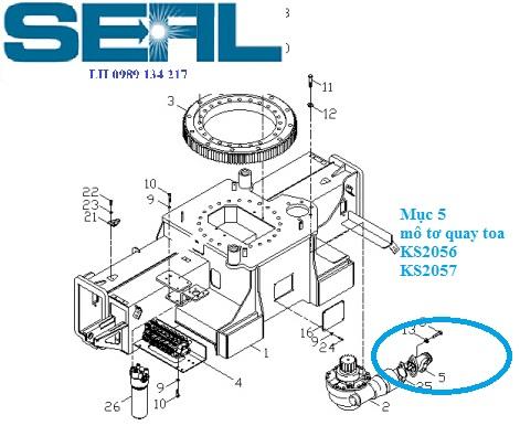Motor quay toa cẩu Kanglim 7 tấn KS2056-KS2057-S1046219