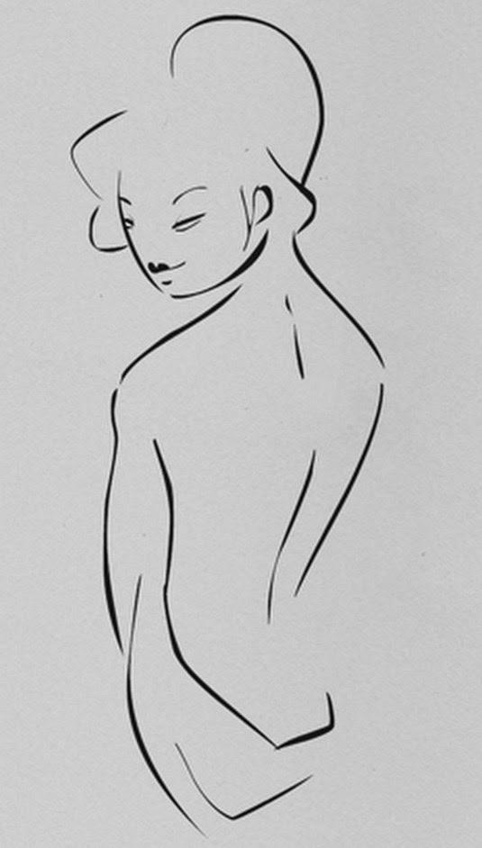 Pintura Moderna Y Fotografía Artística Dibujos Mujeres Lapiz