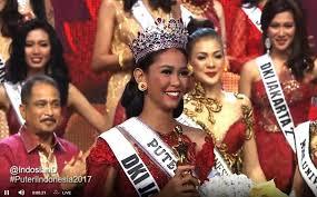 Bunga Jelitha Terpilih Menjadi Puteri Indonesia 2017
