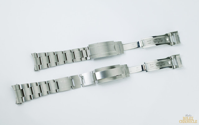 picture of Fully Extended Bracelets of rolex Submariner (top) and Deepsea (bottom)