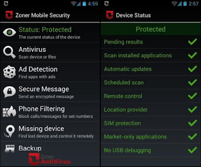 Download Gratis Anti Virus Zoner Mobile Security v1.4.1 Apk Terbaru 2016