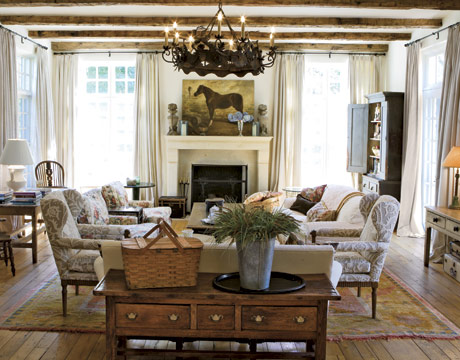 The enchanted home - Country chic living room furniture ...