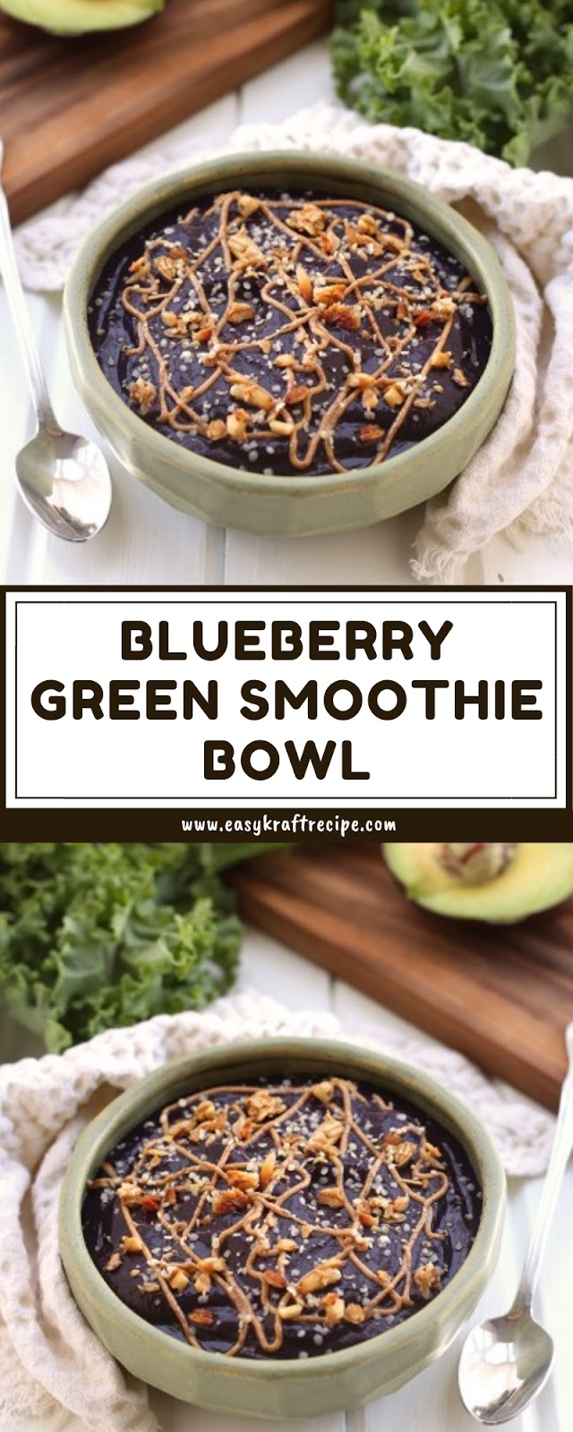 BLUEBERRY GREEN SMOOTHIE BOWL
