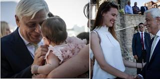 Ο Προκόπης Παυλόπουλος πήγε στη βάφτιση των δίδυμων εγγονών του και είναι ένας περήφανος παππούς