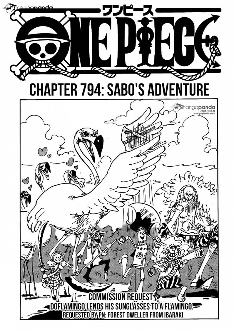 One Piece Ch 794: Sabos Adventure Commission Request