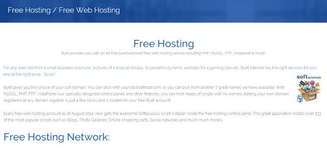 Cara Daftar Hosting Gratis di Byte Host