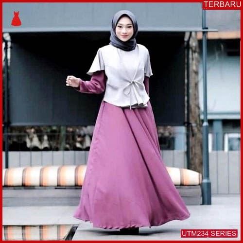 UTM234R61 Baju Rafika Muslim Dress UTM234R61 0EA   Terbaru BMGShop