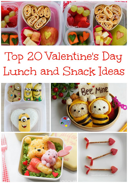 Top 20 Valentine's Day Lunch and Snack Ideas