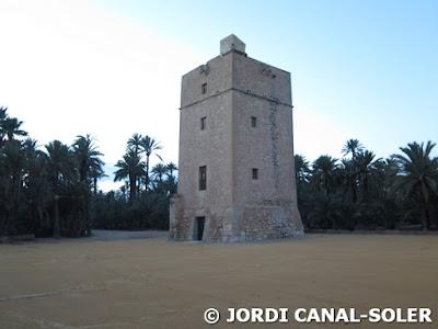 Torre de Vaíllo en el Palmeral de Elche