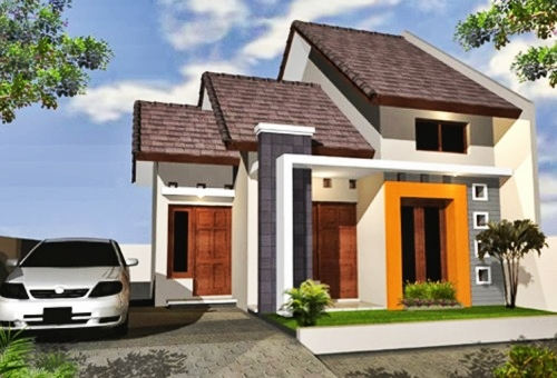 picture of a simple 2-storey minimalist house model 20