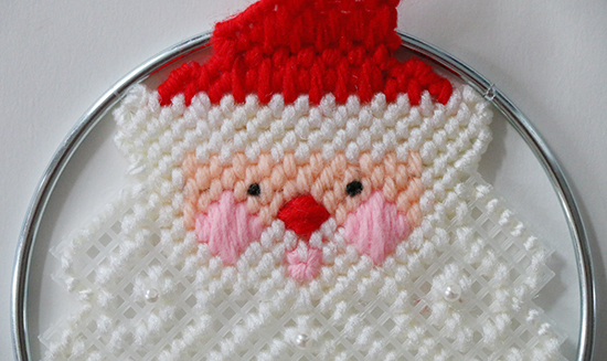 Detail of Santa Decoration from Canvas Capers Kit by Leisure Arts