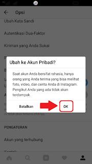 mengaktifkan Privasi Instagram