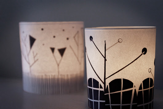 DIY: Illustrated Candle Holder Covers