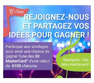 Gagnez des cartes d'achats de 100 euros