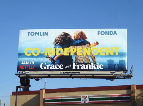 Grace and Frankie season 4 bong billboard