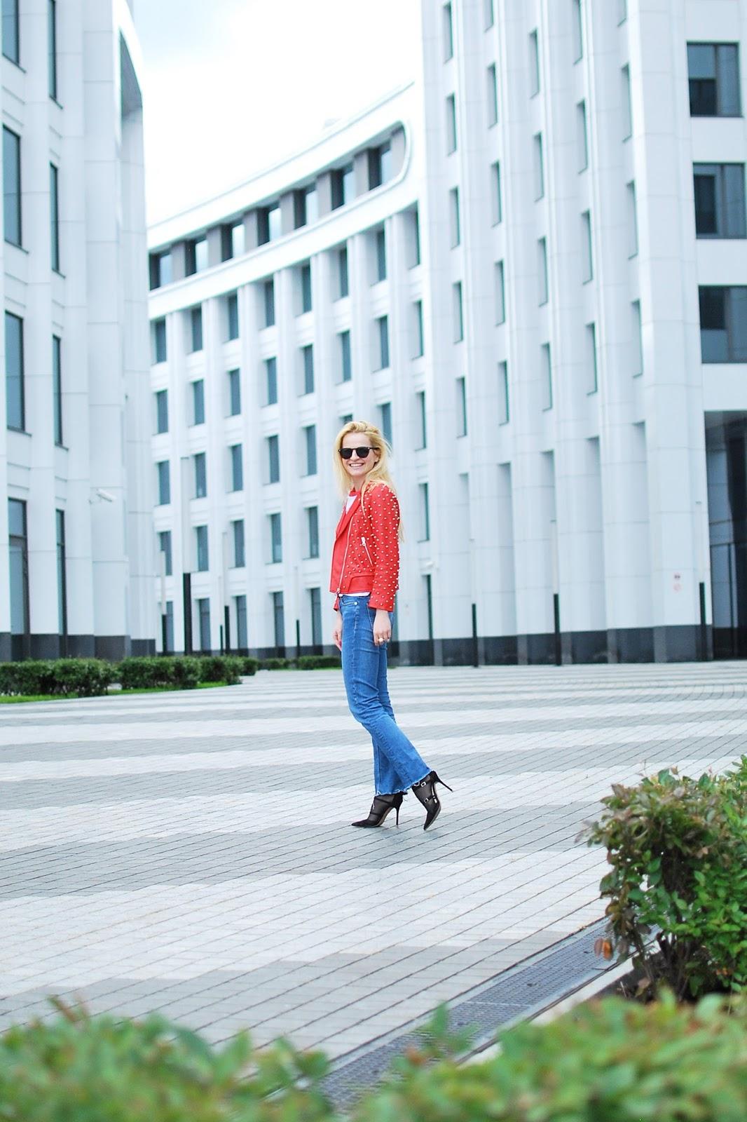 джинсы лук, модные тенденции фото, real outfit photo