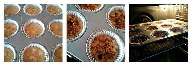 Receta de muffins de pera y granola 04