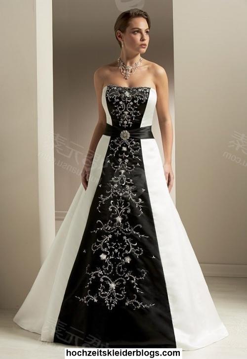 Hochzeitskleid Schwarz Weiß