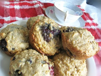 blackberry muffins with quinoa