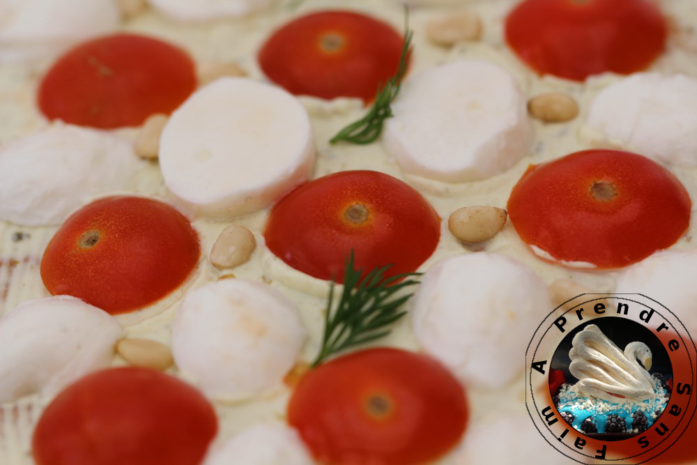 Sandwich cake tomates mozzarella
