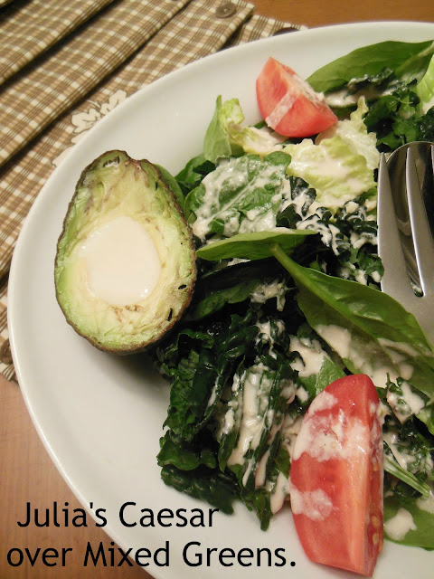 Julia's Caesar over Mixed Greens. Shake up your salad routine!