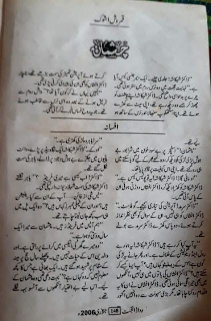 Free download Chashman novel by Qamrosh Ashok pdf