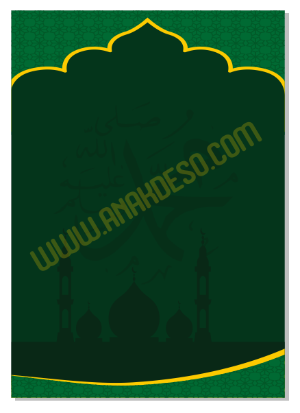 Vector Pamflet Maulid Nabi Muhammad SAW | Anakdeso.com