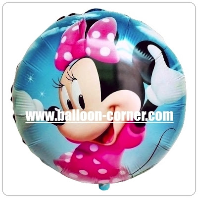 Balon Foil Bulat MINNIE MOUSE